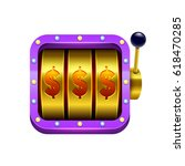 slot machine illustration....   Shutterstock .eps vector #618470285