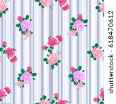 seamless pattern with pink... | Shutterstock .eps vector #618470612