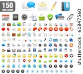 150 detailed icons. vector... | Shutterstock .eps vector #61847560