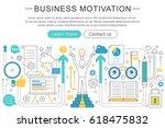 elegant thin line flat modern...   Shutterstock . vector #618475832