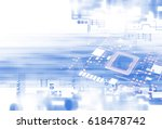 3d rendering futuristic blue... | Shutterstock . vector #618478742