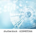 science vector background with... | Shutterstock .eps vector #618485366