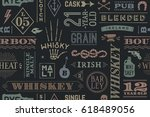 seamless pattern with types of... | Shutterstock .eps vector #618489056