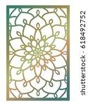 vector laser cut panel. pattern ...   Shutterstock .eps vector #618492752