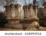 tombstone. moscow. donskoy... | Shutterstock . vector #618494516
