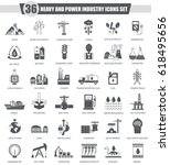 heavy and power industry black ... | Shutterstock . vector #618495656