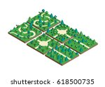 isometric view projection... | Shutterstock .eps vector #618500735