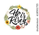 he is risen typographical... | Shutterstock .eps vector #618501755