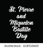 st. pierre and miquelon... | Shutterstock .eps vector #618510665