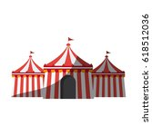 circus tent icon | Shutterstock .eps vector #618512036