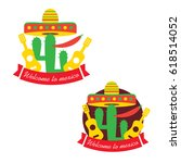 mexican food logo. mexican fast ... | Shutterstock . vector #618514052