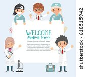 welcome medical service card... | Shutterstock .eps vector #618515942
