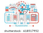 modern flat thin line design... | Shutterstock . vector #618517952