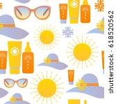 vector seamless pattern  sun... | Shutterstock .eps vector #618520562