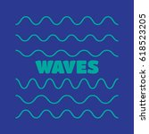 waves outline icon  modern... | Shutterstock . vector #618523205