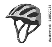 protective helmet for cyclists. ... | Shutterstock . vector #618527258
