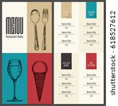 restaurant menu design. vector... | Shutterstock .eps vector #618527612