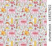 bubble gum vector seamless...   Shutterstock .eps vector #618527822