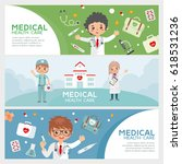 medical health care banners set.... | Shutterstock .eps vector #618531236