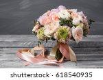 bridal bouquet. wedding.... | Shutterstock . vector #618540935