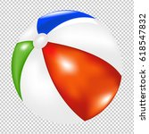 beach ball gradient mesh ... | Shutterstock .eps vector #618547832