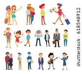 large set of people  profession ... | Shutterstock .eps vector #618548912