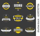 summer season sale badges and... | Shutterstock .eps vector #618550706