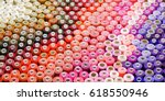 colored threads in a reel        Shutterstock . vector #618550946