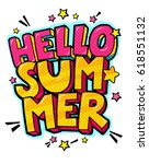 hello summer message in retro... | Shutterstock .eps vector #618551132