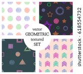 set of seamless vector... | Shutterstock .eps vector #618554732