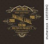 vintage typographic label... | Shutterstock .eps vector #618555842