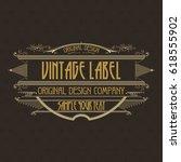 vintage typographic label... | Shutterstock .eps vector #618555902