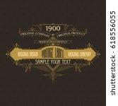 vintage typographic label... | Shutterstock .eps vector #618556055