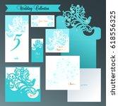 wedding set. invitation in a... | Shutterstock .eps vector #618556325