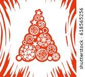 vector christmas tree | Shutterstock .eps vector #618565256