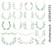 colorful hand drawn herbs ... | Shutterstock .eps vector #618569252
