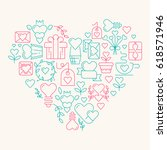 love poster template in the... | Shutterstock .eps vector #618571946