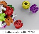 3d rendering gear assembly... | Shutterstock . vector #618574268
