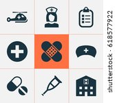 drug icons set. collection of... | Shutterstock .eps vector #618577922