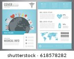 medical brochure design... | Shutterstock .eps vector #618578282