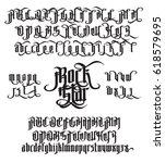 rock star   modern gothic style ... | Shutterstock .eps vector #618579695