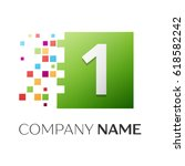 number one vector logo symbol... | Shutterstock .eps vector #618582242