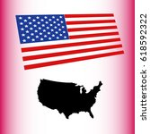 usa map with flag | Shutterstock .eps vector #618592322