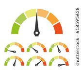 speed metering or rating icon.... | Shutterstock .eps vector #618595628