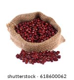 Small photo of Japanese red beans or Adzuki Bean isolated on white background