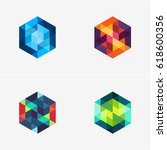 modern simple shape  colorful ... | Shutterstock .eps vector #618600356