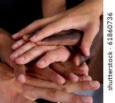 series of various hands... | Shutterstock . vector #61860736