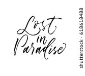 lost in paradise postcard.... | Shutterstock .eps vector #618618488