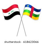 iraqi and central african... | Shutterstock .eps vector #618623066
