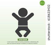 baby icon   Shutterstock .eps vector #618623432